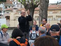 En Pere recordant col·laboradors de les caminades
