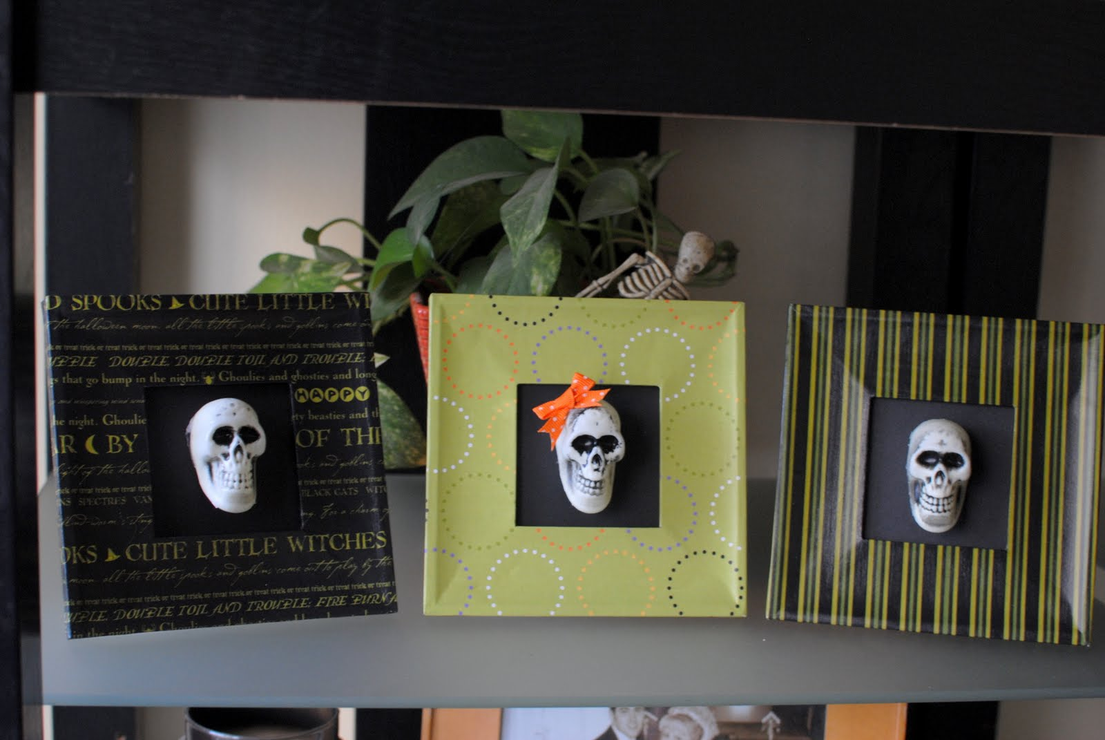 Halloween mod podge frames inside brucrew life frames 3 dollar tree paper skulls ribbon mod podge in my stash yea for stash busting jeuxipadfo Choice Image