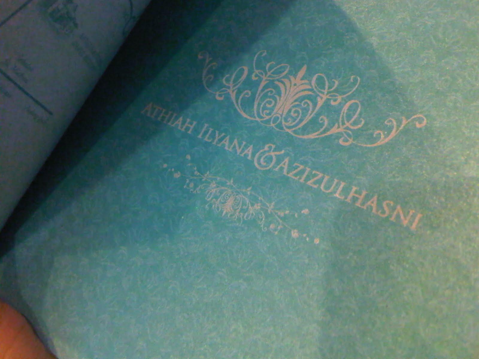 Azizul athiah amna wedding preparation part 3 kad kahwin for Idea door gift untuk vip