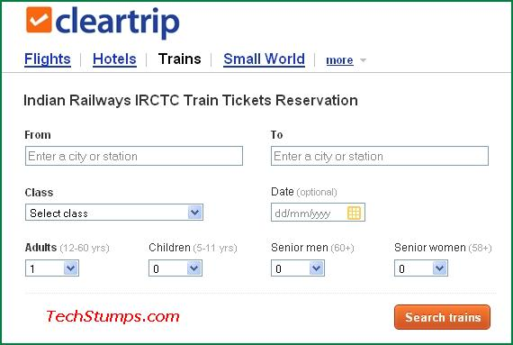 Best train ticket booking reservation sites tech stumps for Best booking site for flights