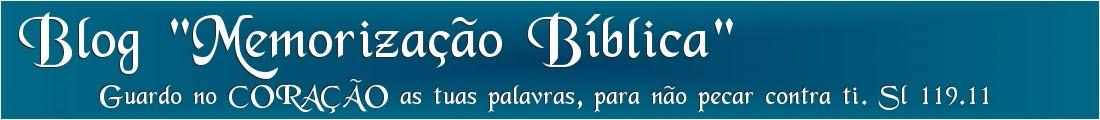 MEMORIZAÇÃO BÍBLICA