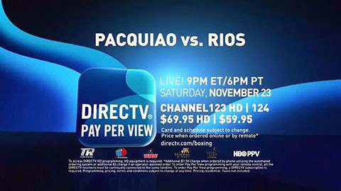 Pacquiao vs Rios Live Pay Per View Provider USA PPV TV