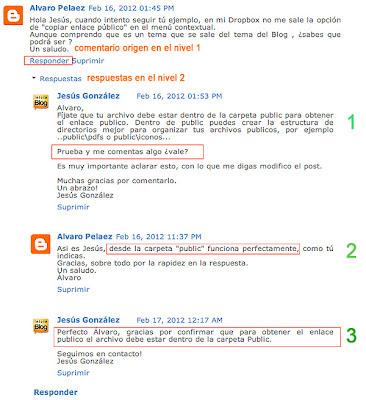 Comentarios anidados en Blogger