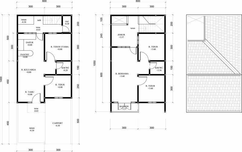 Renovasi Rumah Type 36 Menjadi 2 Lantai Model 2