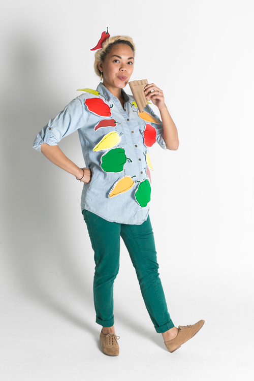 """Peter Piper Picked a Peck of Pickled Peppers"" Halloween costume"