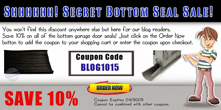 http://www.garagedoorzone.com/Bottom-Garage-Door-Seal_c41.htm?sourceCode=blog&coupon=BLOG1015