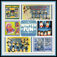 photo of: Winter Fun RoundUP of Winter Bulletin Boards, Snowmen, Snowflake and Penguin Fun via RainbowsWithinReach