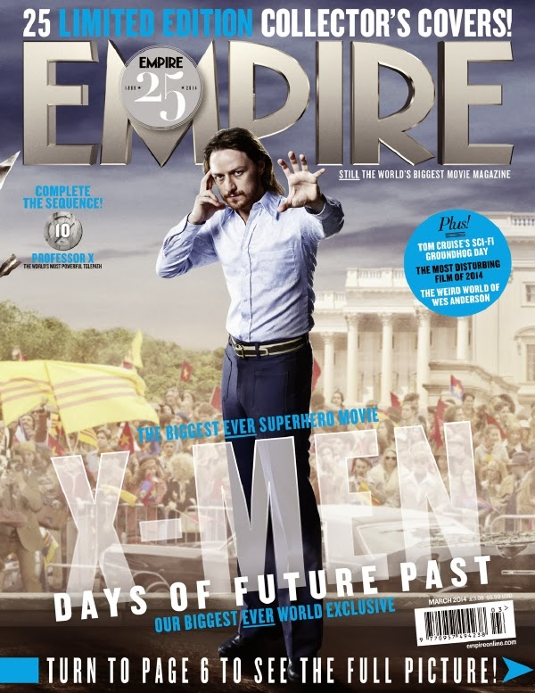 Empire covers X-Men: Days of Future Past: Xavier