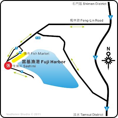 新北市_北海岸_富基漁港_觀光地圖 (設計/林金亮 Jin-Liang, Lin)