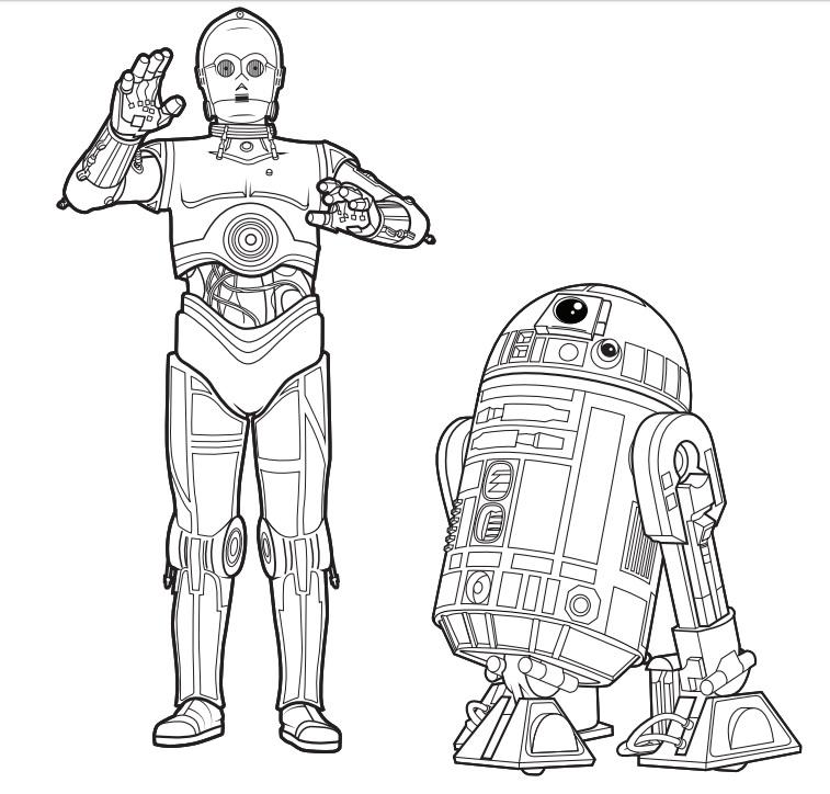 Un Pan Bajo El Brazo: Libro gratis para colorear de Star Wars