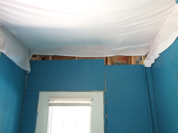 fabric ceiling diy basement ideas55 basement