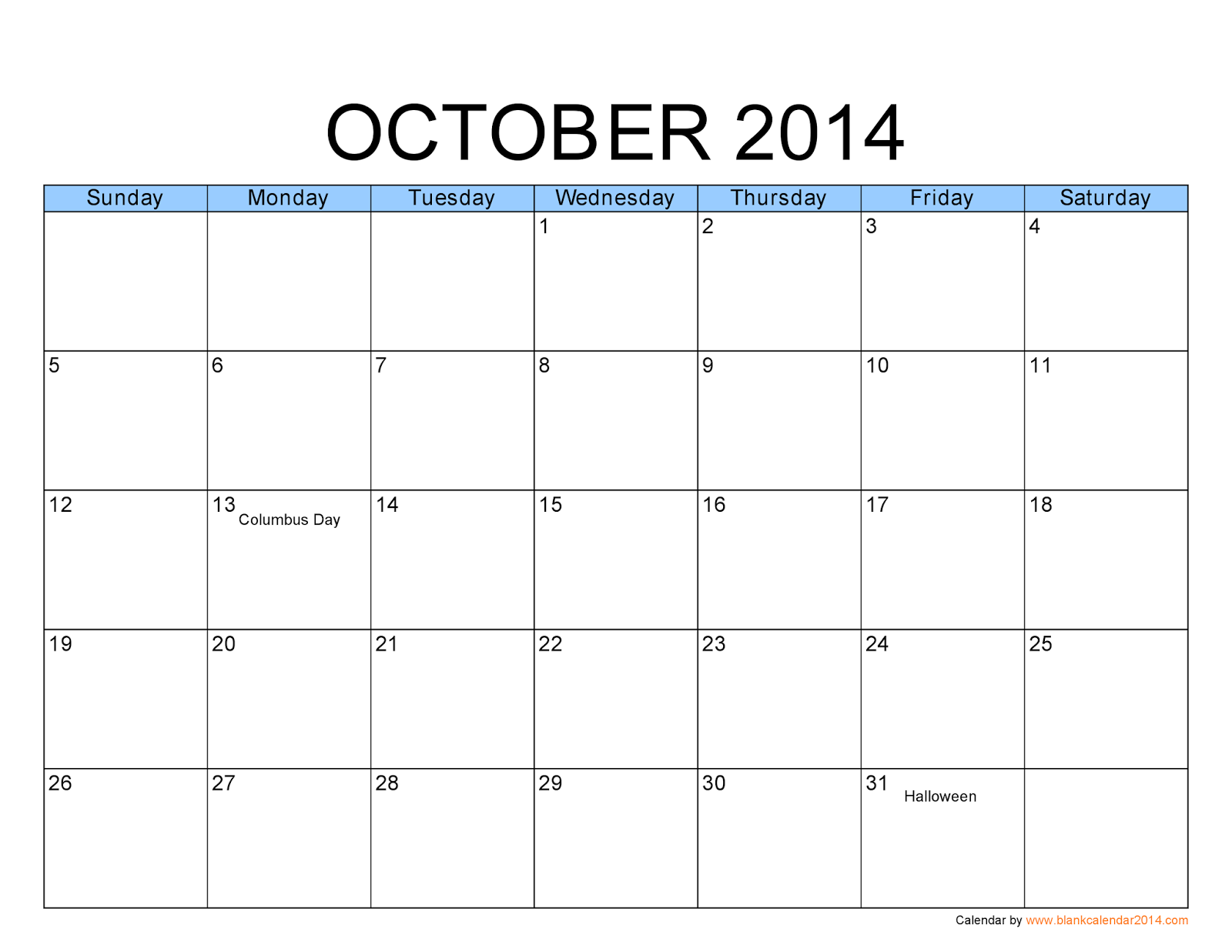 Free October 2017 Calendar Printable Templates - Printable ...