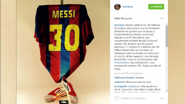 Messi bate récords en Instagram