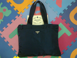 Prada Microfiber Blue Nylon Tote Bag(SOLD)