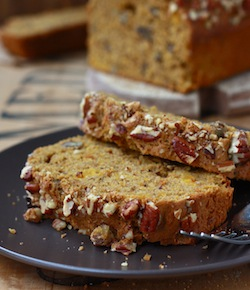 Spiced Pecan Pumpkin Bread Loaf