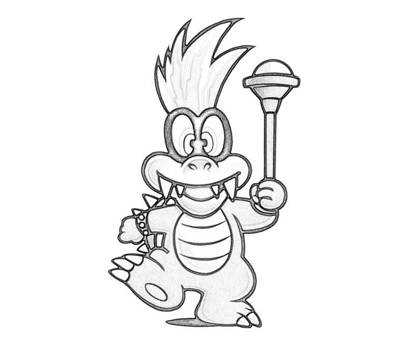 Free coloring pages of iggy koopa for Koopa coloring pages