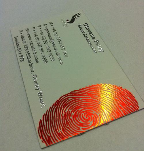 Biren Patel Graphic Design Attractive Foil Stamped