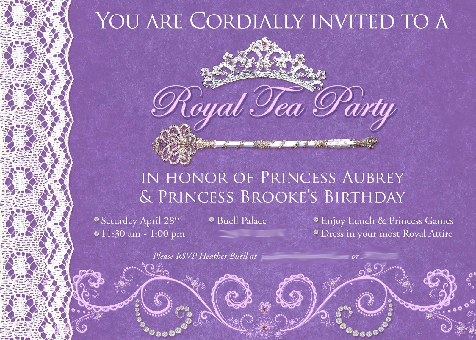 The Buell Family: Princess Tea Party
