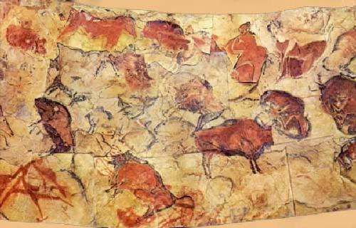 La Cueva Spain  city photo : Realización de imágenes simbólicas en arte parietal en las paredes ...