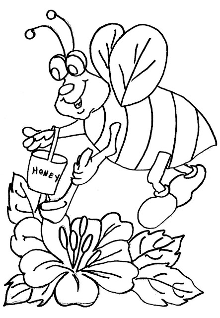 abelha colorir