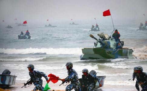 China's Navy conducts occupying islands exercise