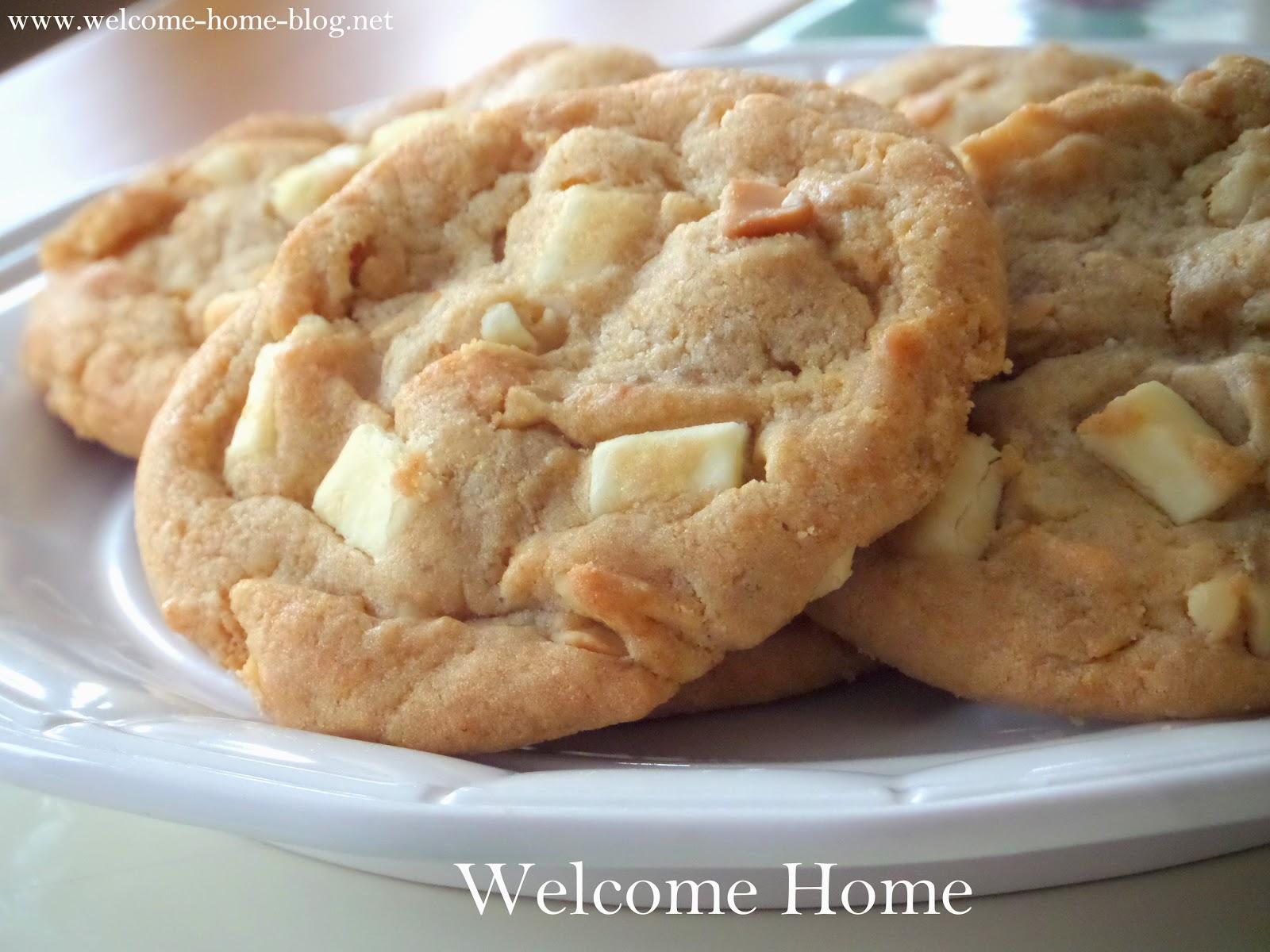 Welcome Home Blog: White Chocolate Macadamia Nut Cookies
