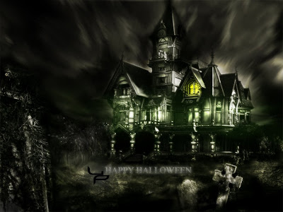 the-helloween-house-in-the-niht-gothic-wallpapers