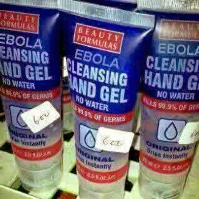 ebola virus hand gel