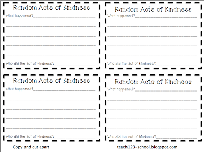 kindness cards template - 28 images - chic challenge random acts of ...