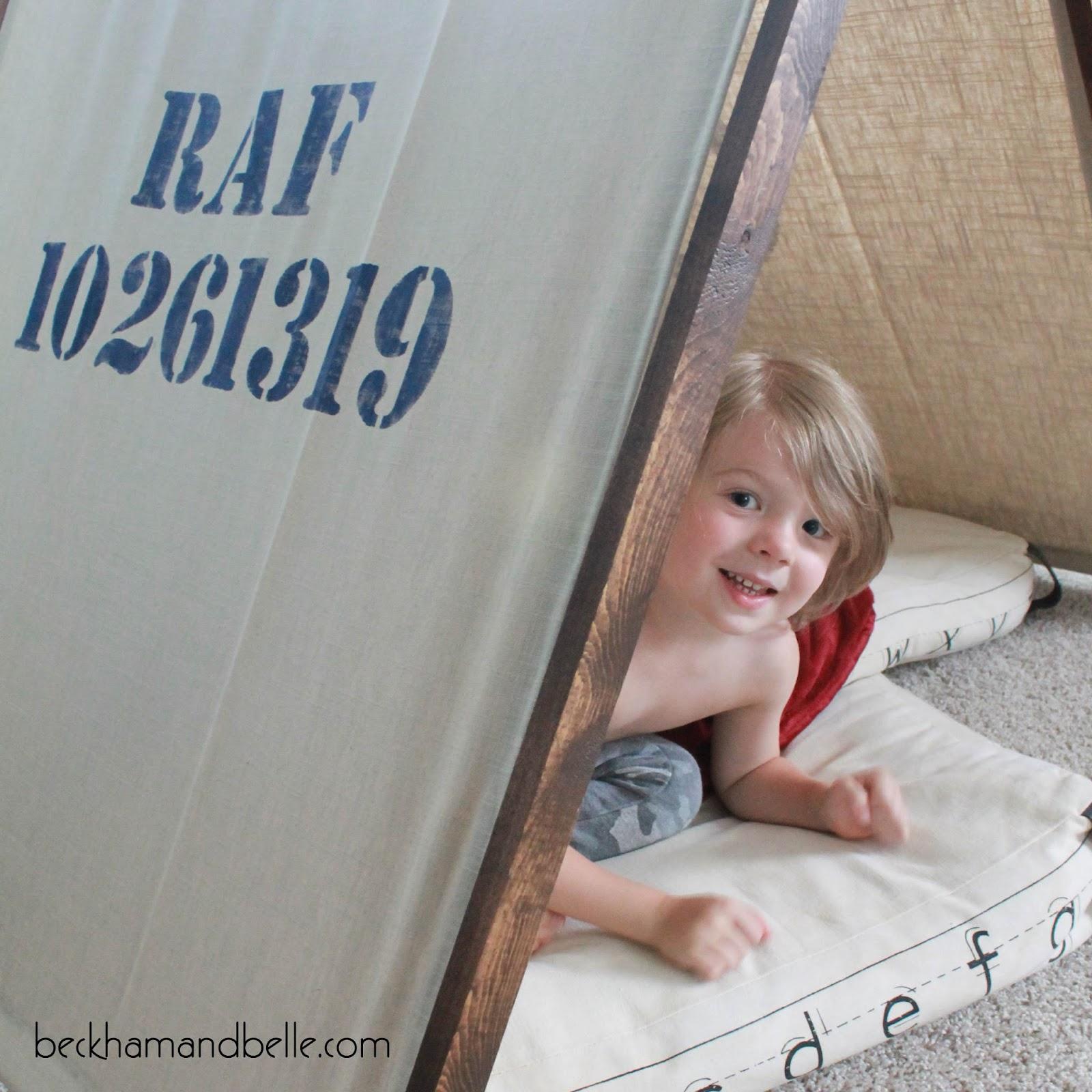 DIY Fold-Up Kids Playroom Tent (for less than $20!) - Beckham + Belle