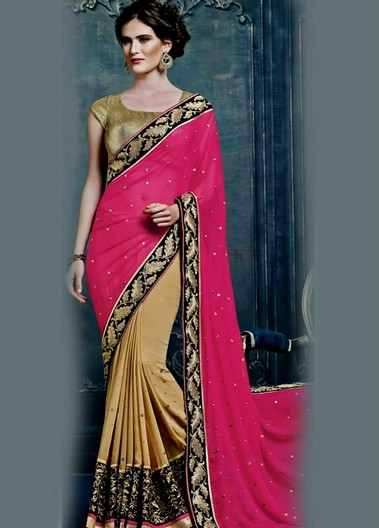 Bollywood Style Embroidered Pleated Saree Collection