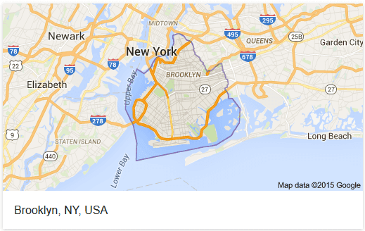 Map of Brooklyn in New York
