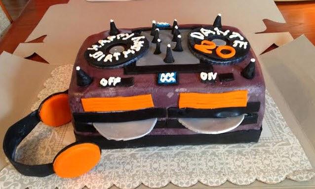 Sweets By Elena Happy Birthday Cake DJ Style