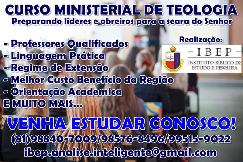 CURSO MINISTERIAL DE TEOLOGIA IBEP