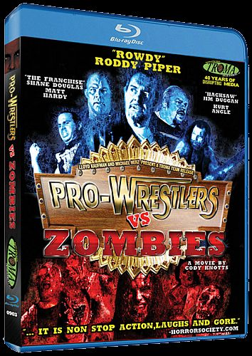 Pro Wrestlers vs Zombies Blu-ray cover