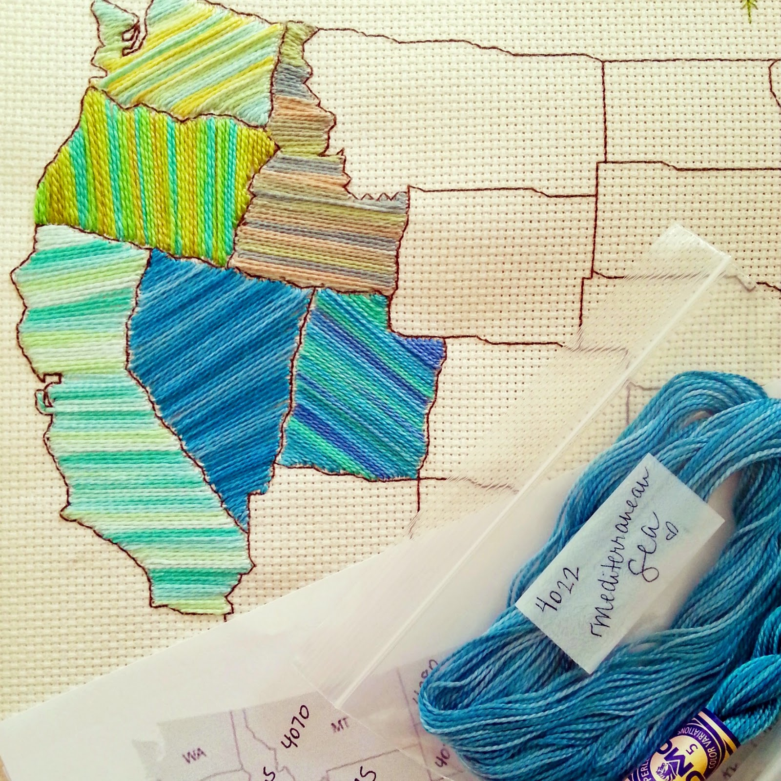Raising Up Rubies Blog A Little Shop Update Stitch The States - Giant us map