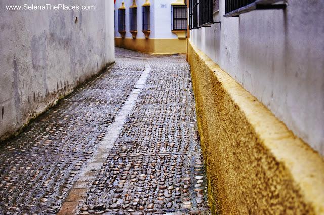 Cobblestones in Ronda, Spain