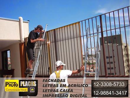 INSTLAÇÃO FACHADAS REVESTIMENTO EM ACM COM LETRAS CAIXA , GRAN HOTEL TAUBATÉ-SÃO PAULO