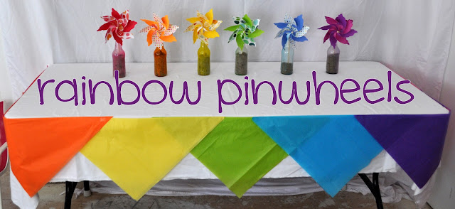 Rainbow Party {pinwheels}