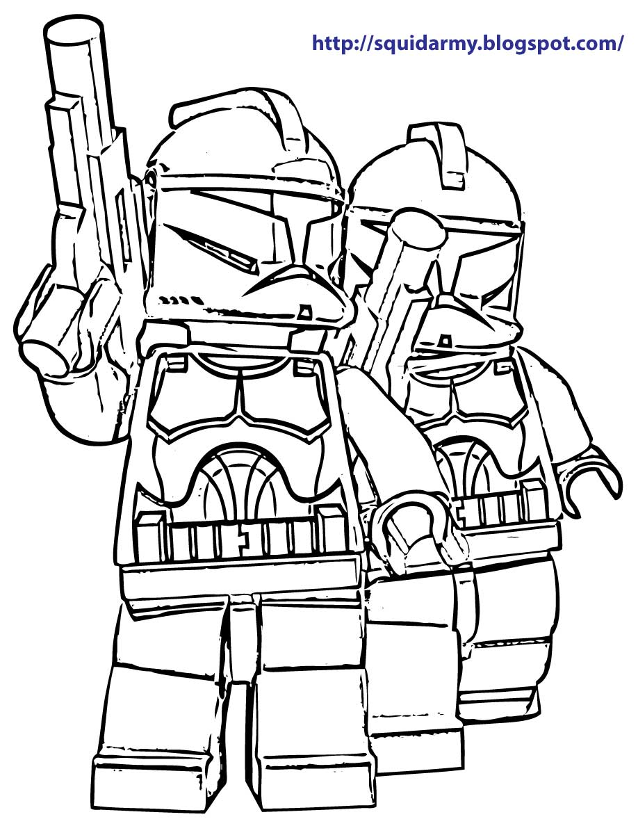 Lego Star Wars coloring pages - Stroom Tropers - Squid Army