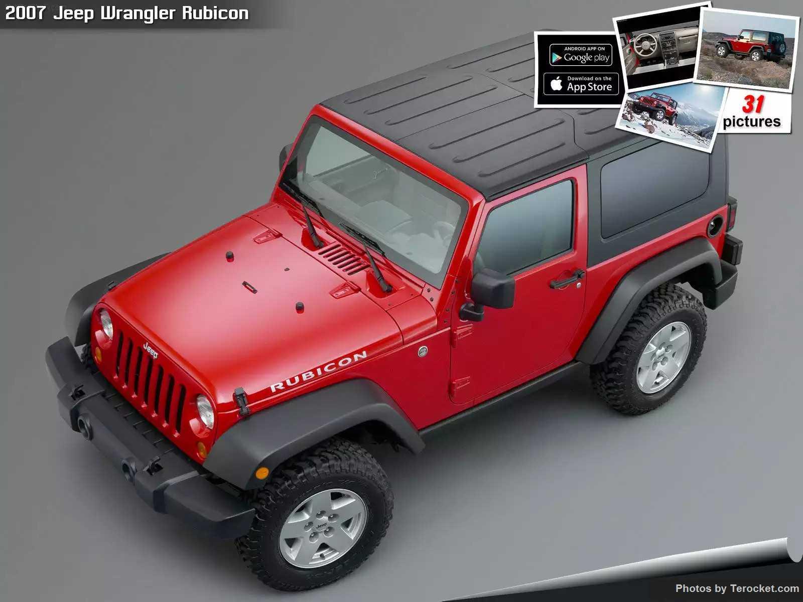 Hình ảnh xe ô tô Jeep Wrangler Rubicon 2007 & nội ngoại thất