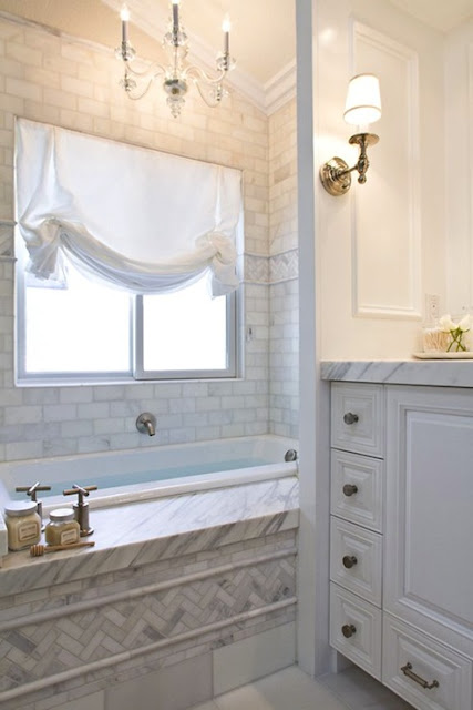Original White Subway Tiles With Herringbone Pattern With Bathroom Installation