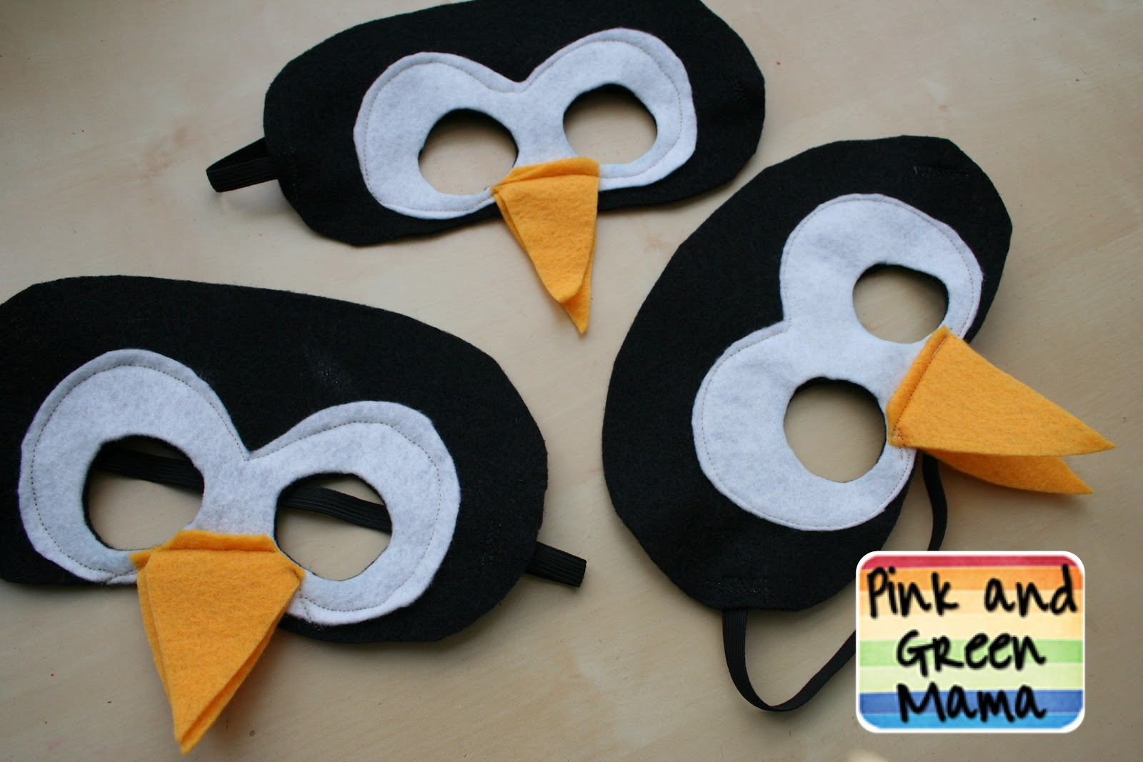"For ""C""s penguin party she wanted penguin masks so I made some."