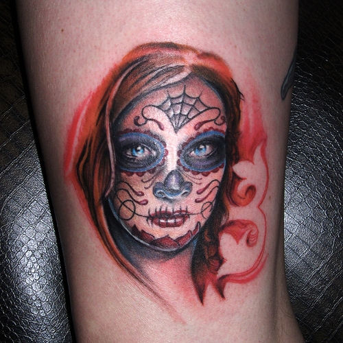 Sugar skull tattoo tattoos photo gallery for Skull tattoos meaning