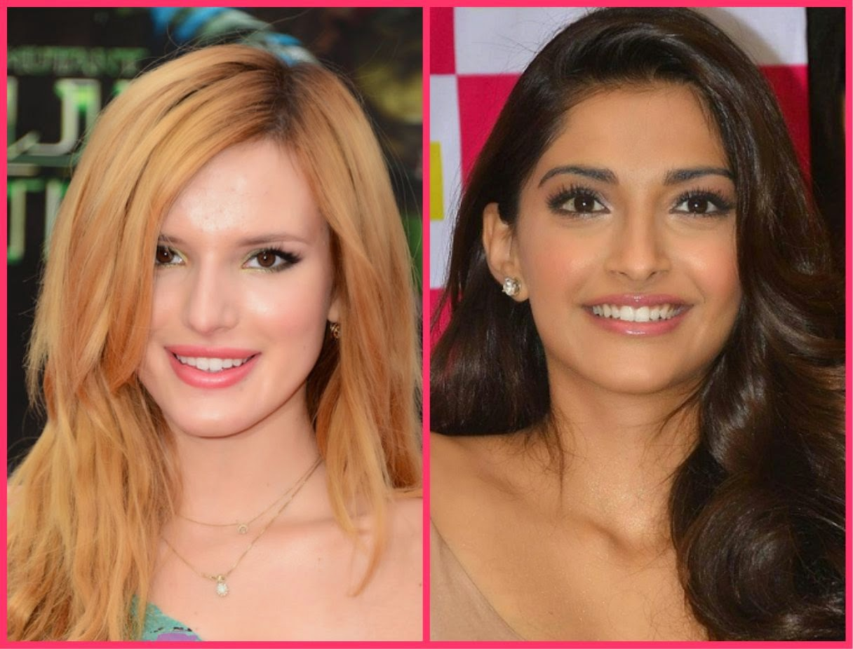 Watermelon shade lip colour, bella thorne in pink lip colour, sonam kapoor in peach lip shade
