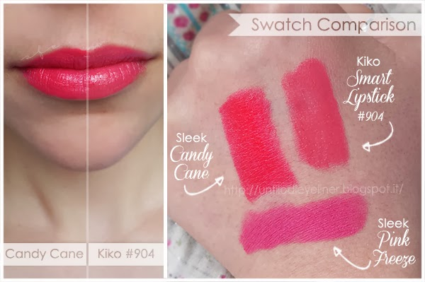 swatch sleek candy cane + 904 kiko