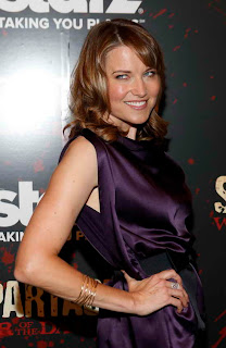 Lucy Lawless at Spartacus War of the Damned Premiere event in NY