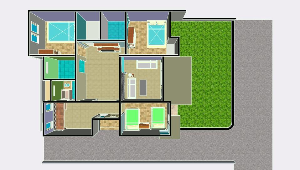 jasa desain rumah tampak dan denah rumah sederhana dinamis