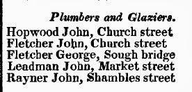 Leadman John, Market Street - Plumber and Glazier