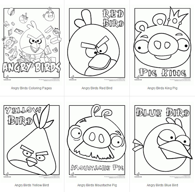 Angry Birds Coloring Pages Printable Angry Birds Coloring Pages
